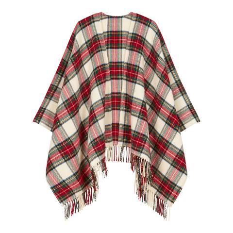 MAJE Multi Wool Blend Woven Poncho