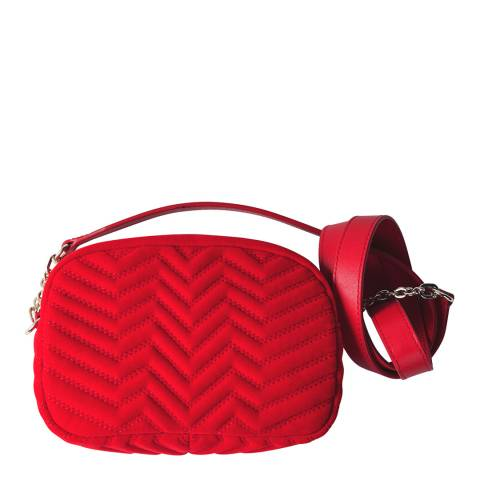 MAJE Red Quilted Crossbody