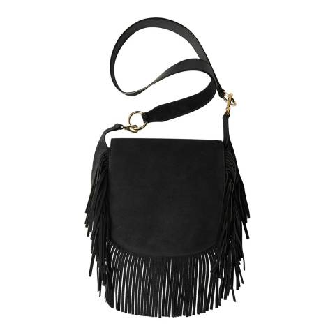 MAJE Black Tassel Crossbody Bag