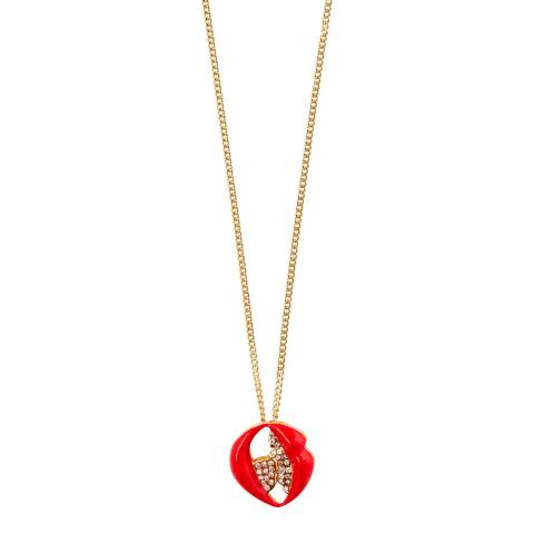 MAJE Gold Anniversary Mouth Medallian Necklace