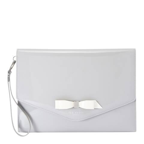 Ted Baker Grey Cersei Bow Envelope Pouch