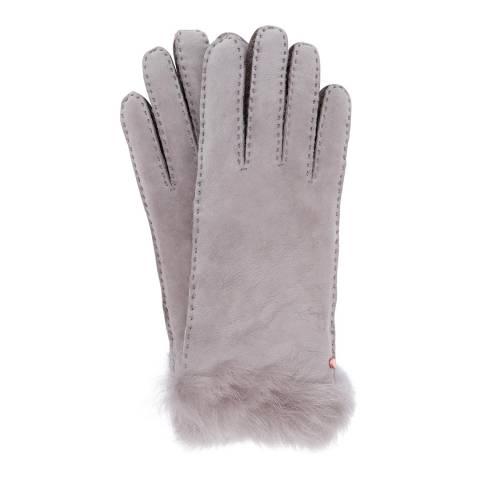 Ted Baker Grey Niki Classic Shearling Gloves