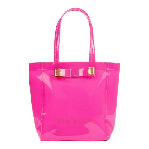 Ted Baker Bright Pink Revcon Bow Small Icon Bag