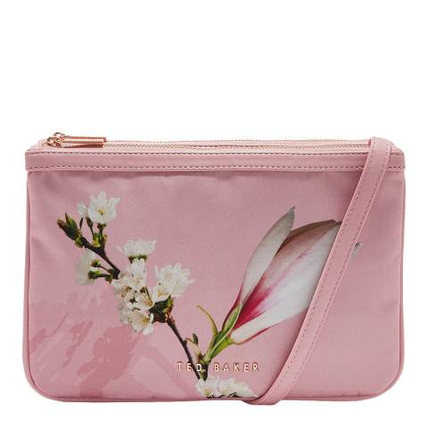 Ted Baker Pale Pink Beess Harmony Double Zip Crossbody