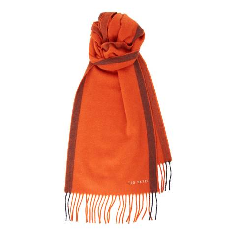 Ted Baker Orange Selscaf Cashmere Scarf
