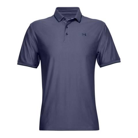 Under Armour Men's Blue Pique Polo Shirt
