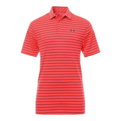 Under Armour Men's Red Breathable Polo Shirt