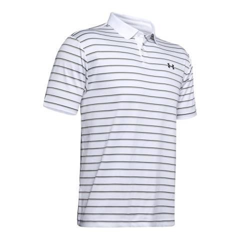 Under Armour Men's White Stripe Polo Shirt