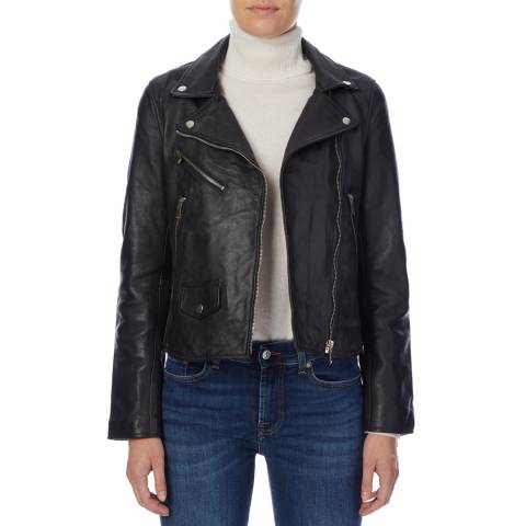 Bolongaro Trevor Black Ella Leather Biker Jacket