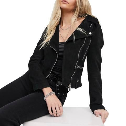 Bolongaro Trevor Black Carson Suede Leather Jacket
