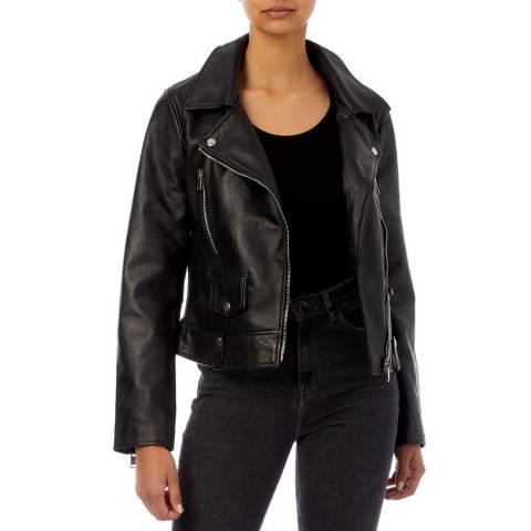 Bolongaro Trevor Black Carson Leather Biker Jacket