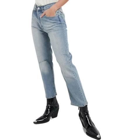 Bolongaro Trevor Blue High Rise Straight Stretch Jeans