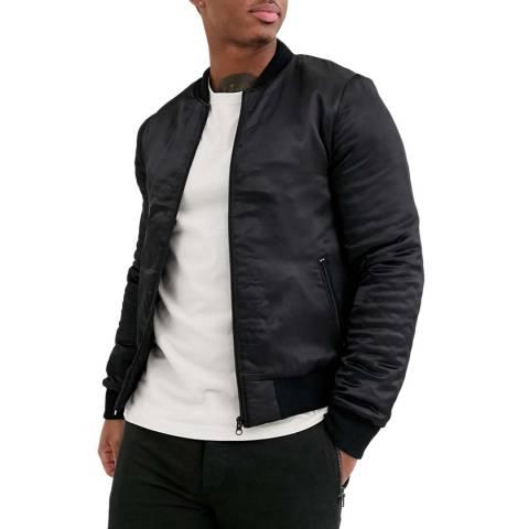 Bolongaro Trevor Black Studded Satin Bomber Jacket