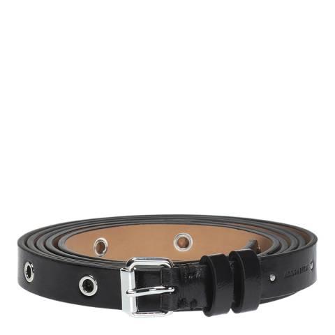 AllSaints Black Double Wrap Eyelet Belt 18mm