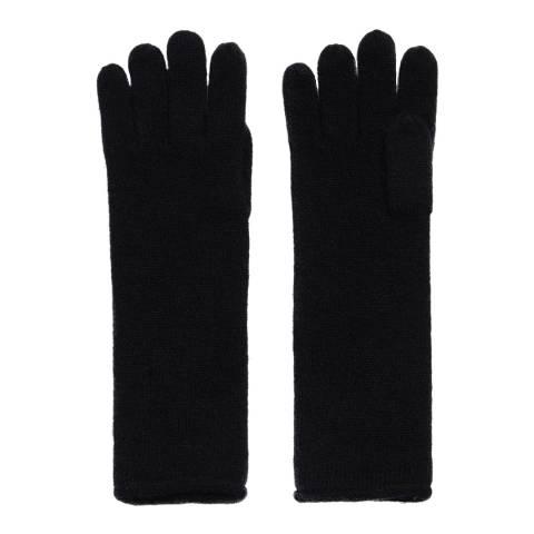 AllSaints Black Self Rolled Edge Glove