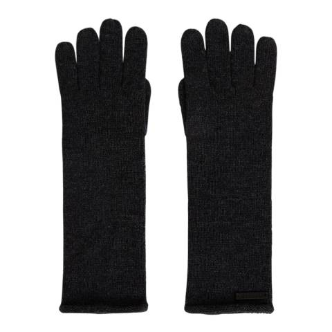AllSaints Black Marl Self Rolled Edge Glove