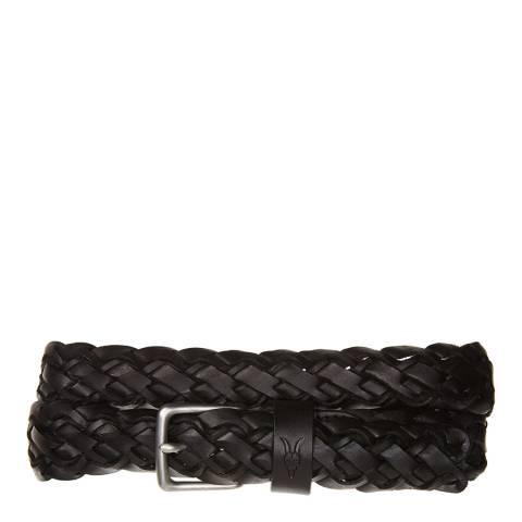 AllSaints Dull Nickel Woven Strap Belt 30MM