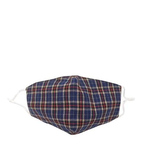 JayLey Collection Blue Check Cotton Face Mask