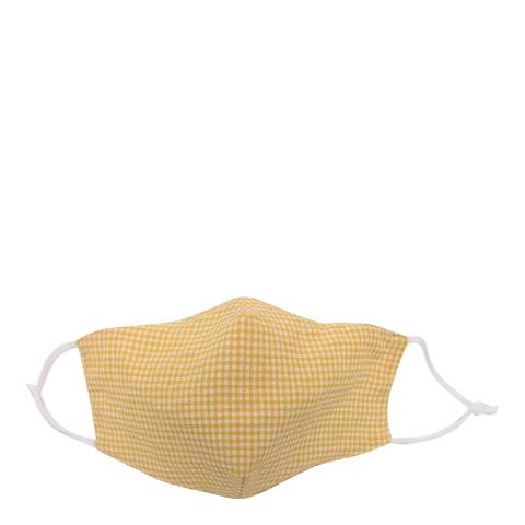 JayLey Collection Yellow Gingham Cotton Face Mask