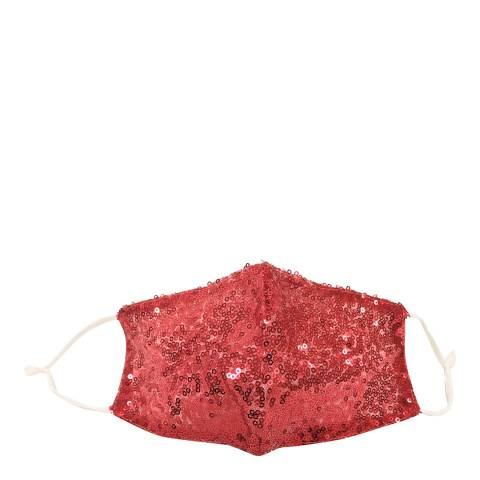 JayLey Collection Red Sequin Face Mask