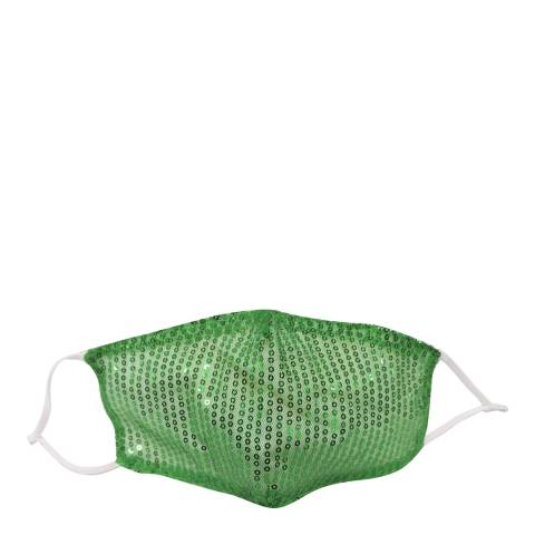 JayLey Collection Green Sequin Face Mask