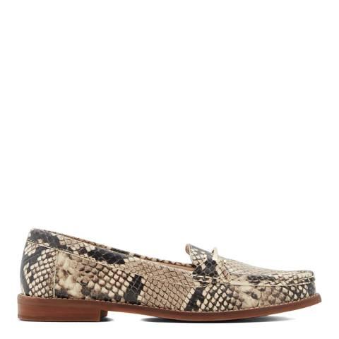 Aldo Snake Print Natural Bergala Loafers
