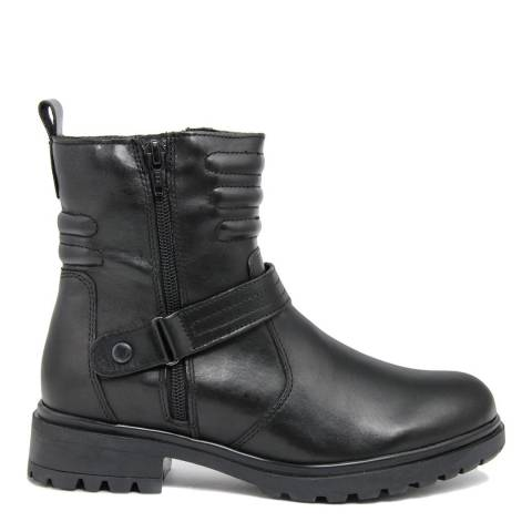 Fashion Attitude Black Detail Leather Ankle Boots