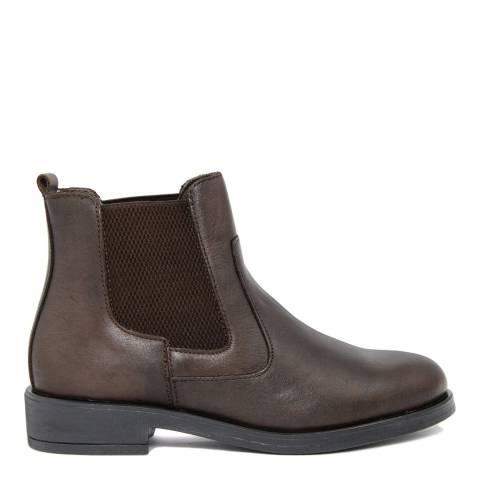 Fashion Attitude Brown Nero Leather Chelsea Boots