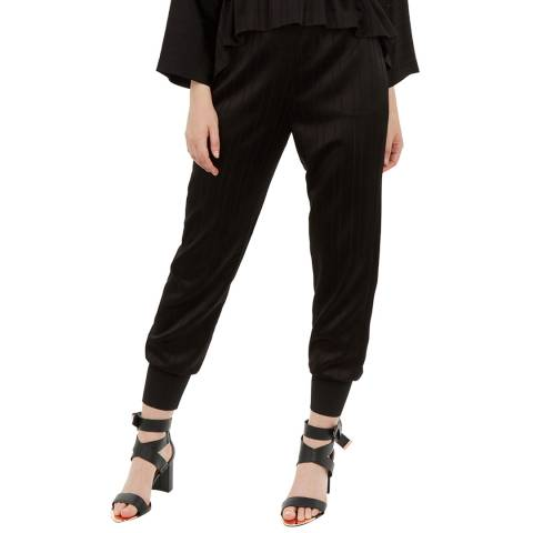 Ted Baker Black Natteah Rayon Cuff Joggers