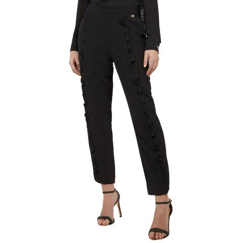 Ted Baker Black Seiana Ruffle Lace Side Joggers