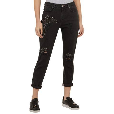Ted Baker Grey Yannah Abrasion Boyfriend Jeans