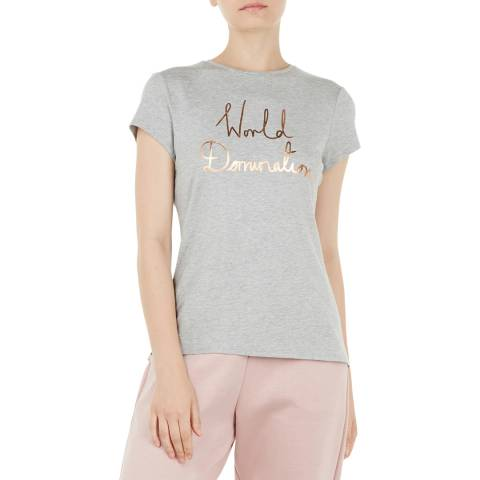 Ted Baker Grey Janetia World Domination Fitted Tee