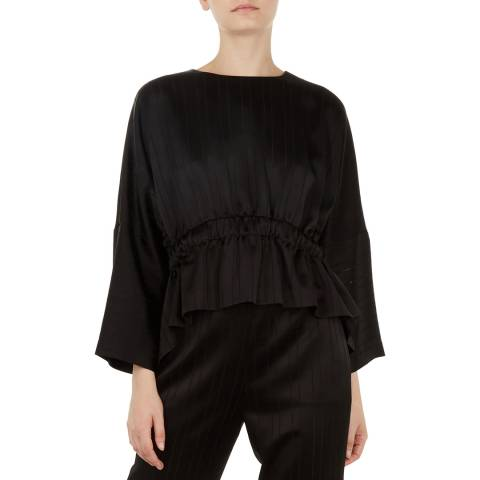 Ted Baker Black Kimilla Cropped Ruched Top