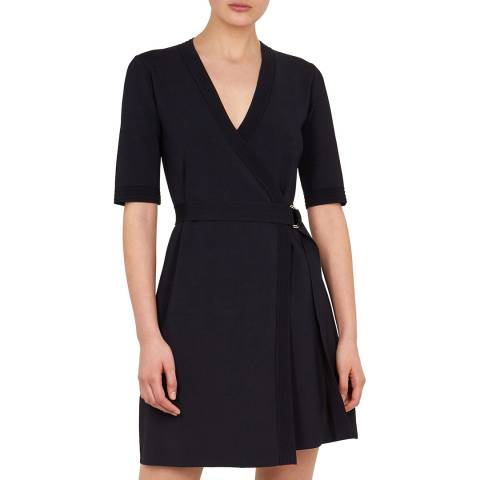 Ted Baker Navy Stefo Knitted Wrap Dress