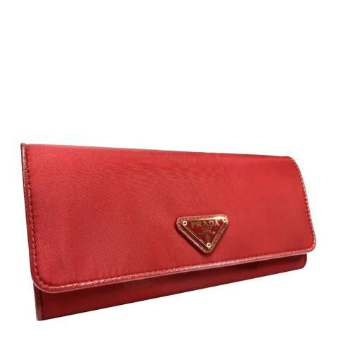 Prada Red Nylon Wallet
