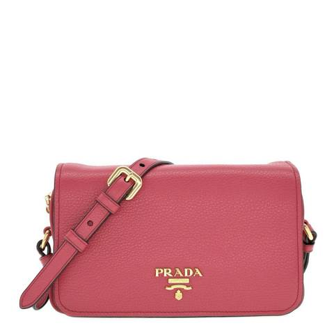 Prada Pink Leather Shoulder Bag