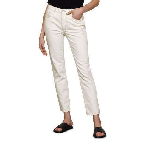 Jigsaw Off White Blenheim Straight Cotton Jeans