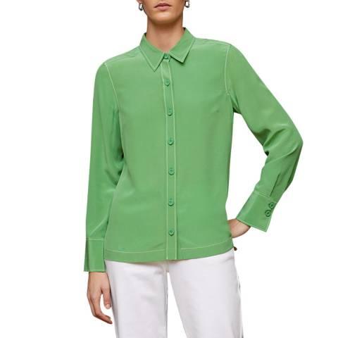 Jigsaw Green Silk Shirt