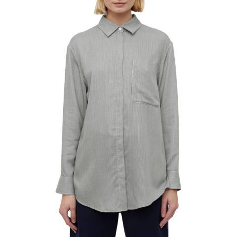 Jigsaw Black/White Stripe Oversized Shirt