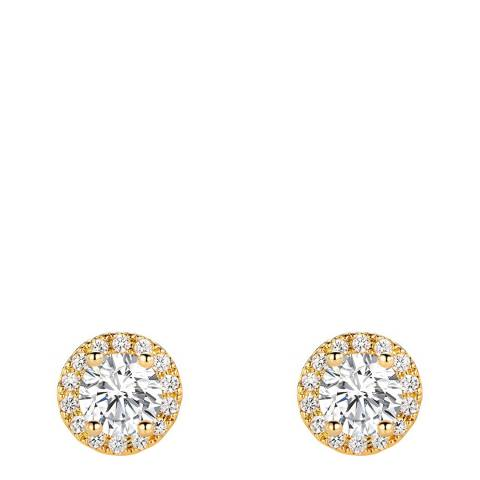 Liv Oliver 18K  Gold Plated Halo Stud Earrings