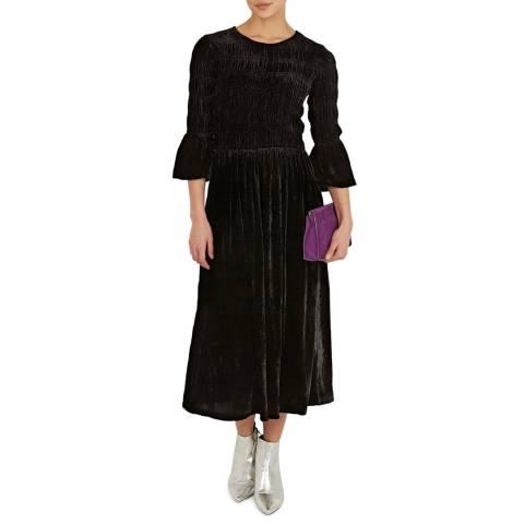 BY IRIS Black Susannah Velvet Dress