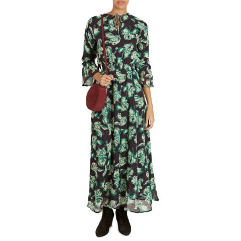 BY IRIS Green Imarni Print Maxi Dress