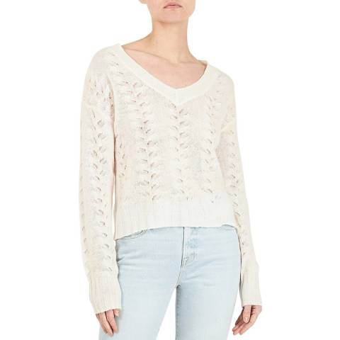 BY IRIS White by Iris Blair V Lace Jumper