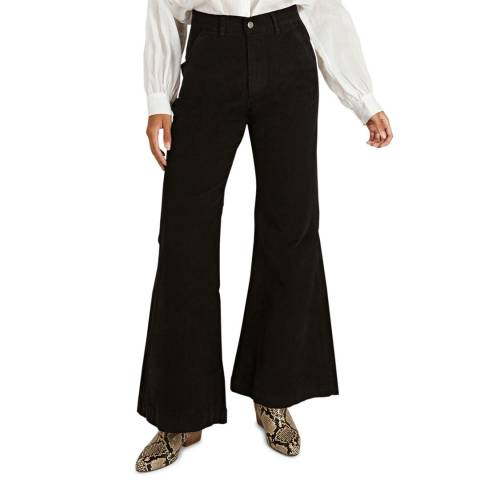 BY IRIS Black Ralia Cord Trouser