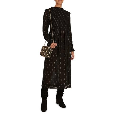 BY IRIS Black Ivita Smocked Dress