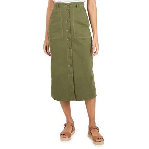 BY IRIS Khaki Reika Midi Skirt