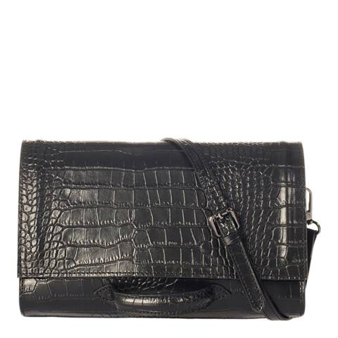 SCUI Studios Black Leather Crossbody Bag