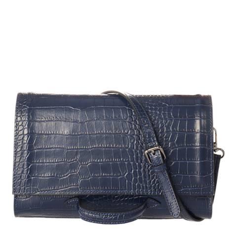 SCUI Studios Blue Leather Crossbody Bag