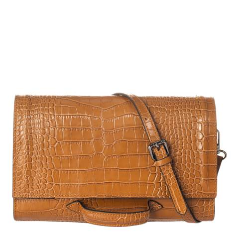 SCUI Studios Cognac Leather Crossbody Bag