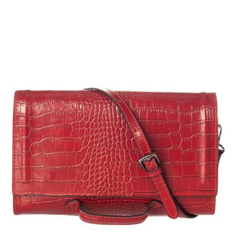 SCUI Studios Red Leather Crossbody Bag